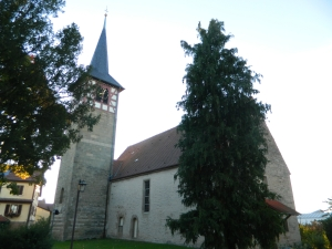 Evangelical church in Affalterbach. Copyright 2013 Red Brick Parsonage.