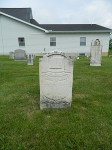Karl Müller's headstone in St. John's Lutheran Church cemetery, Bridgewater, Michigan