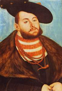 Johann Friedrich the Elder. Portrait by Lucas Cranach the Elder, 1531.