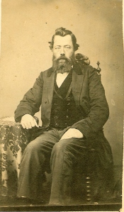 Johannes Strieter with full beard, c. 1860s. Photo courtesy of Susan Hawkins.